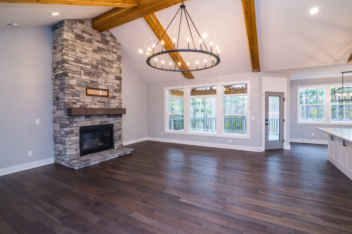 Walkout Custom Ranch with Finished Basement - Fireplace 1