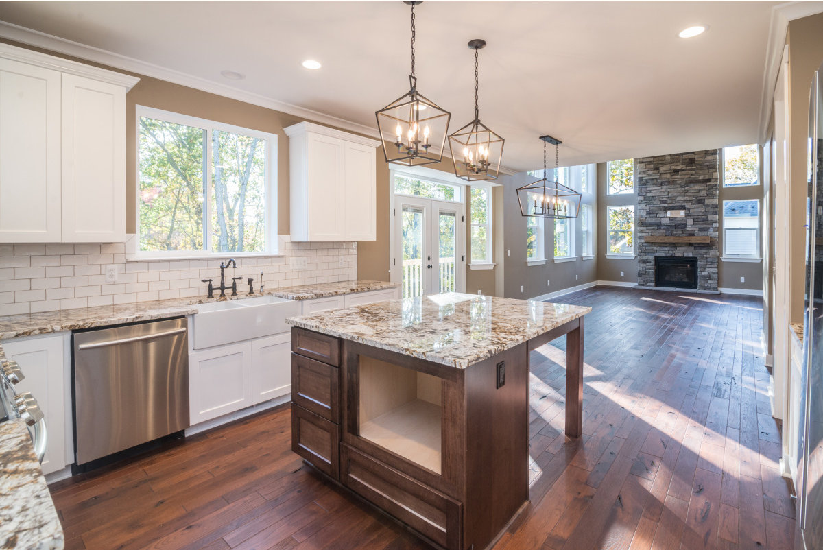 Two Story Custom Craftsman - Kitchen Area and Living Room Area