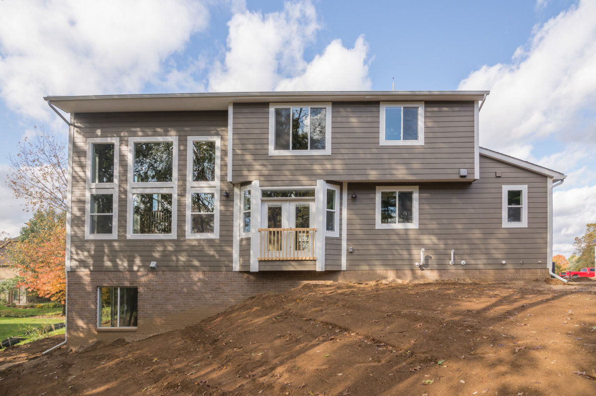 Two Story Custom Craftsman - Rear View